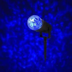 LED projektor Retlux RXL 292 s efektem vodních vln - modrá