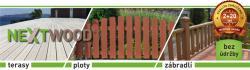 Ploty, terasy a zábradlí z dřevoplastu