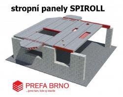 Betonový strop Prefa - prefabrikované stropní panely Spiroll